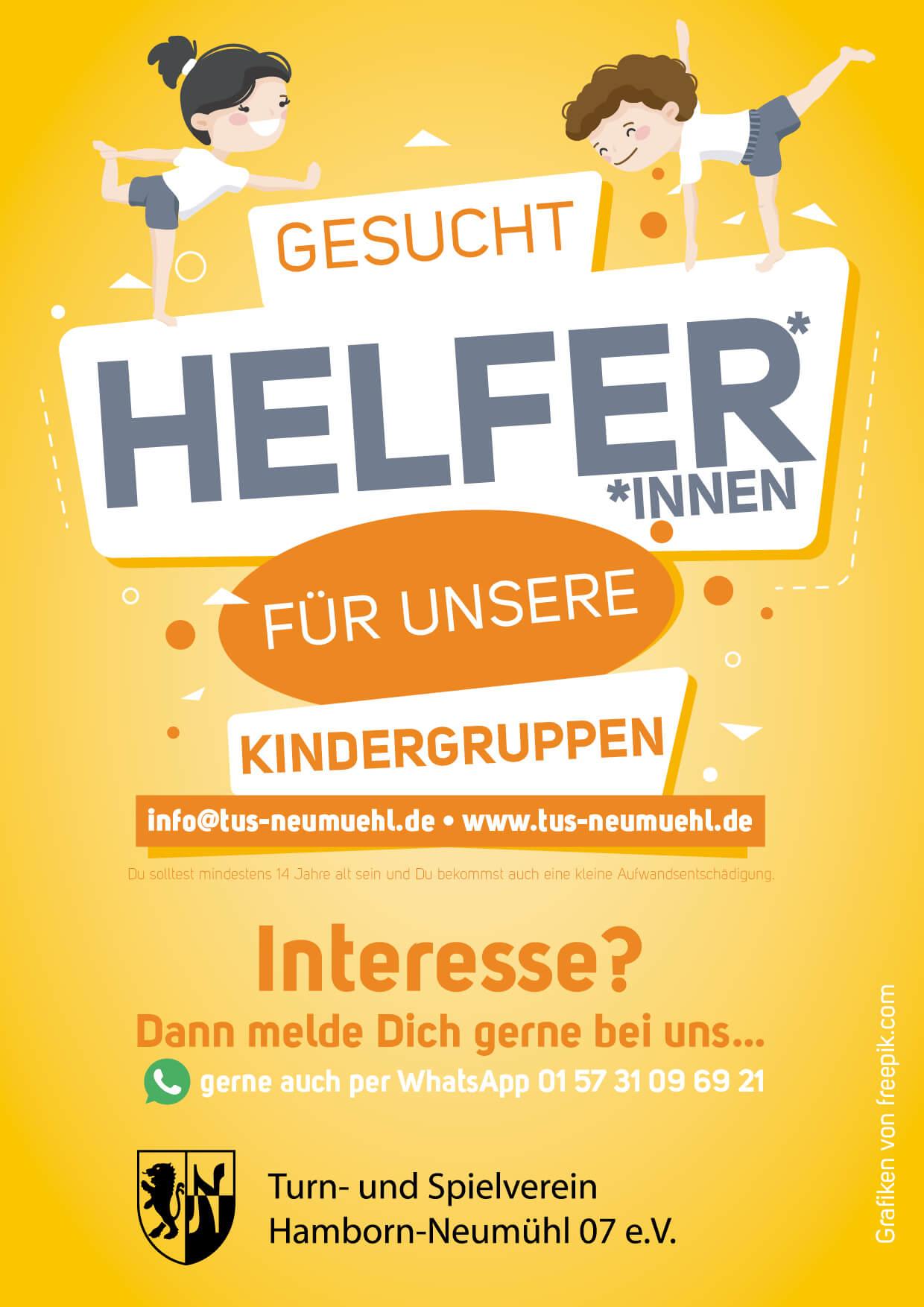 Helfer/innen für unsere Kindergruppen gesucht