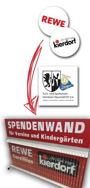 Große Neumühler Spendenaktion mit Kierdorf und REWE
